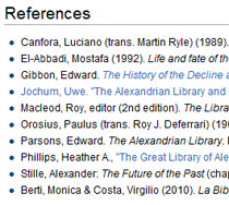 Wikipedia References