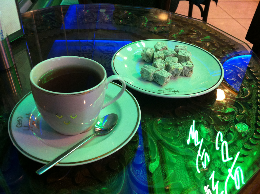 Apple Tea and Lokum at Hafiz Mustafa