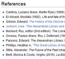 Wikipedia References