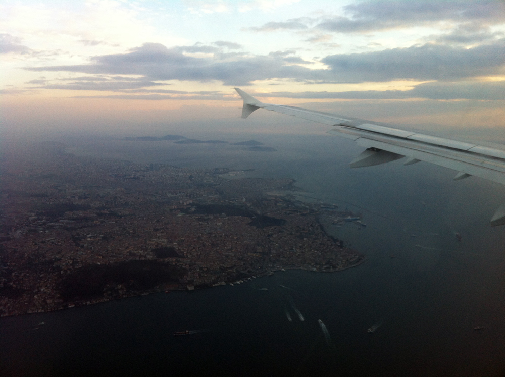 Flying into Istanbul